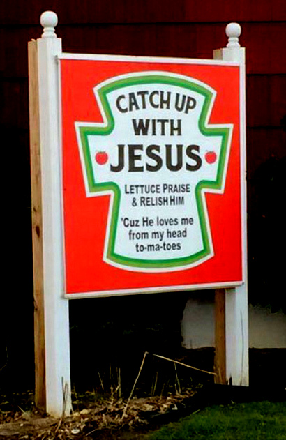 Catch Up with Jesus Church Sign image from email 9 Oct 2017
