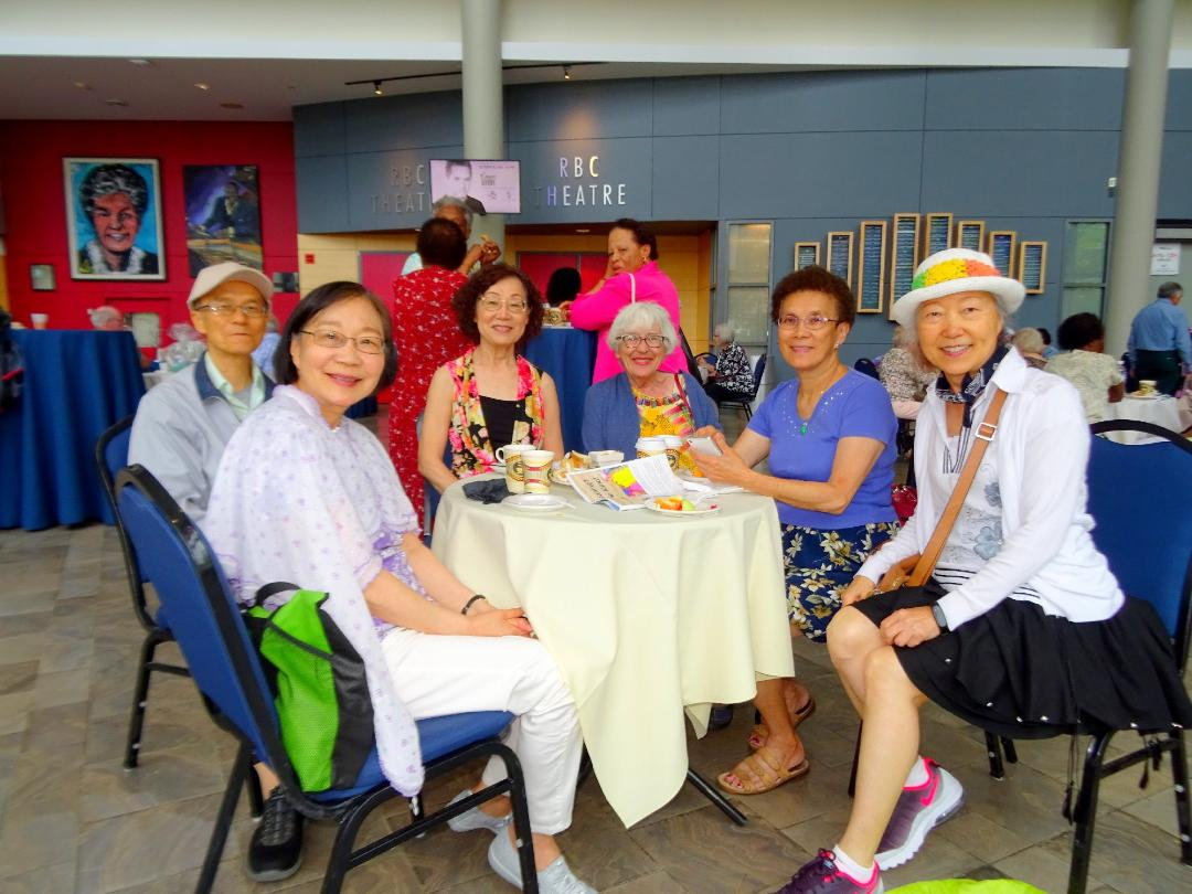 Kathy Lin, Thelma Bauman, Vicky Wu, and Friends at LAC, June 18, 2018 Photo by I Lee