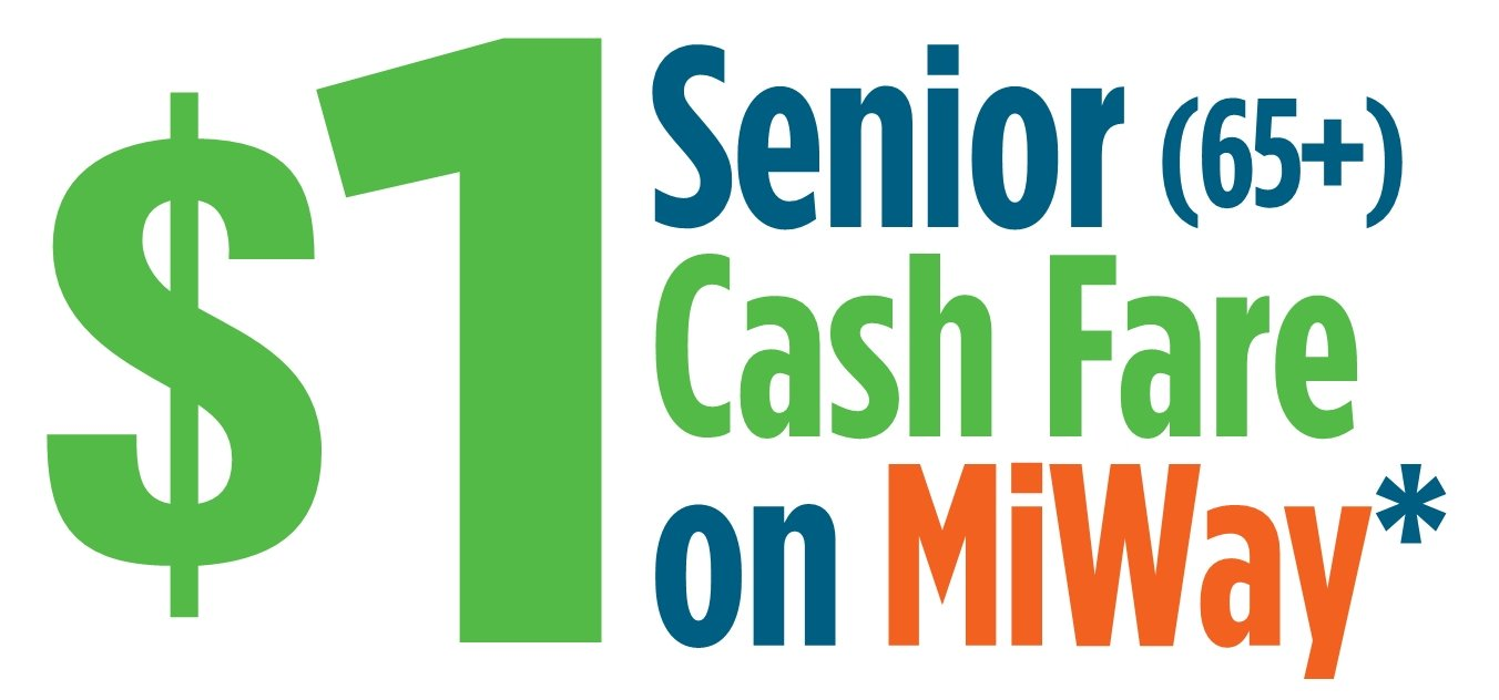 $1 Seniors Fare Google image adapted from http://www7.mississauga.ca/Departments/Rec/older-adult/docs/news_oa_Recreation-eNews.pdf