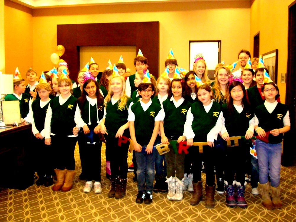 30325 Riverside P S Choir photo taken at Hazel McCallion's 91st Birthday February 14, 2012