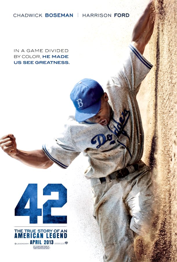 42: The Jackie Robinson Story (2013) Movie Poster Google image from http://www.ropeofsilicon.com/wp-content/uploads/2012/05/42-poster.jpg