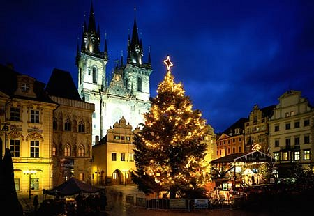 Prague's Old Town Square Christmas market.