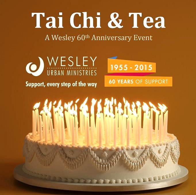 Tai Chi and Tea Wesley Urban Ministries 60 Years of Support image from http://wesley.ca/wesleys-60th-anniversary/
