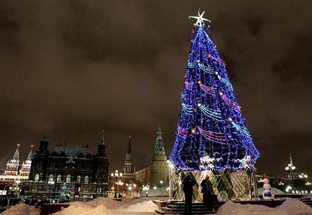Moscow celebrates Christmas according to the Russian Orthodox calendar on January 7.