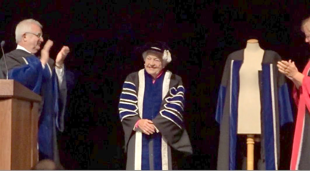 Chancellor Hazel McCallion in full regalia