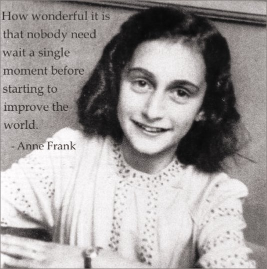 Anne Frank quote with image from https://www.facebook.com/ourkidsnet