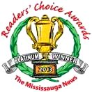 Palisades on the Glen Mississauga News Readers' Choice Award Platinum Winner 2013 image from Palisades September 2014 flyer
