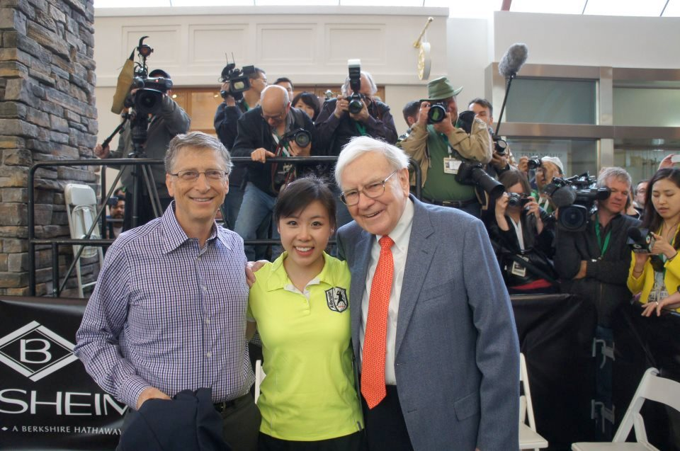 Bill Gates, Ariel Hsing, Warren Buffett, 5 May 2013 Photo credits: Killerspin