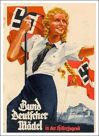 Bund Deutscher Mädel (BDM, the League of German Girls) Google image from http://spartacus-educational.com/00womenHit1.jpg