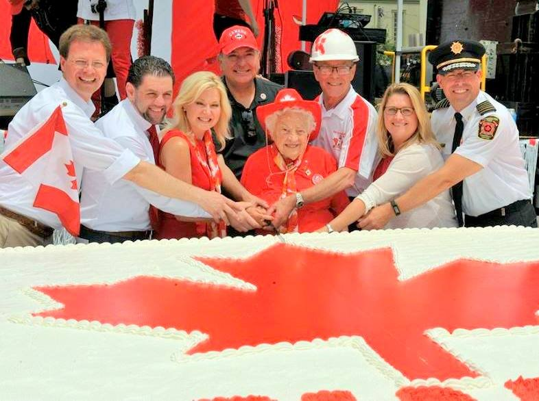Cake Cutting Ceremony at Paint the Town Red Canada 150 Celebration 1 July 2017
