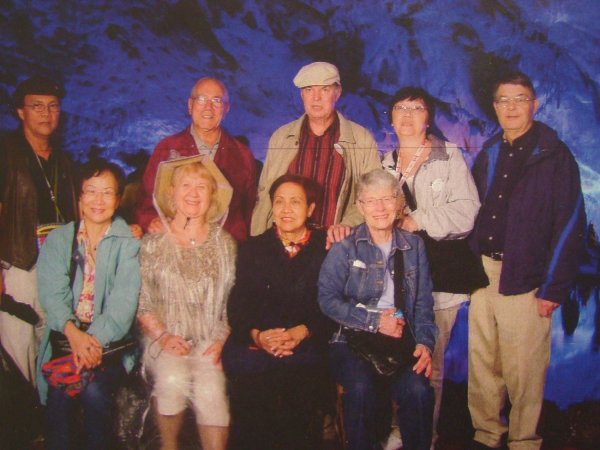 A few of the happy travellers on China Trip image from Older Adult Centre Bulletin Board