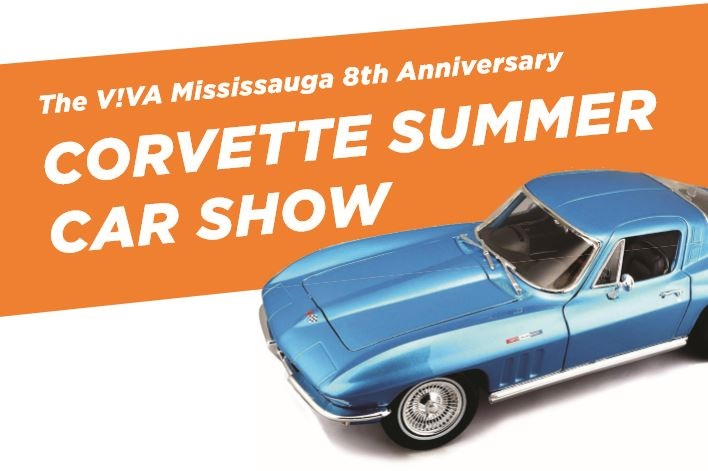 The VIVA Mississauga 8th Anniversary Corvette Summer Car Show image from vivalife.ca email