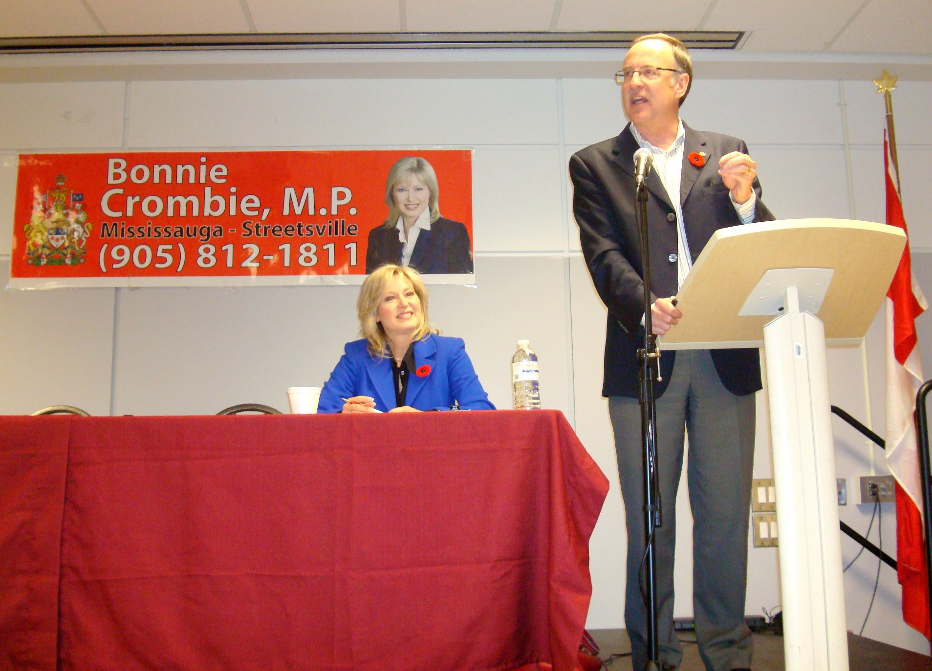 Bonnie Crombie, M.P and Rob Oliphant, M.P.