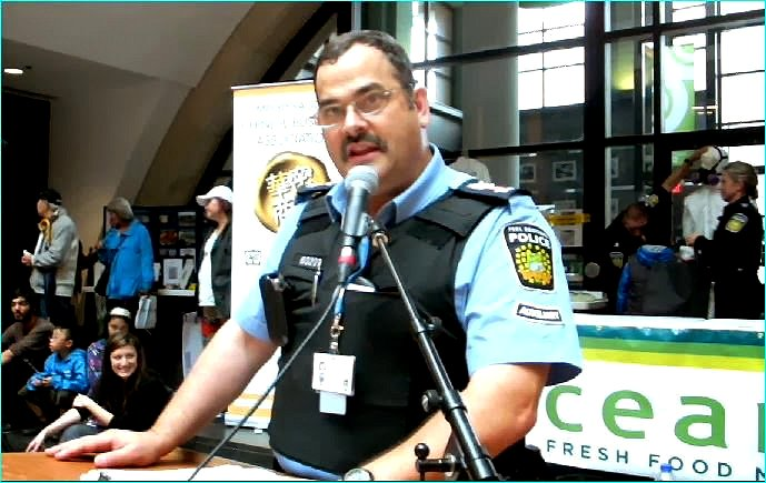 Constable John, Peel Regional Police Auxiliary. Photo by I Lee, 21 Sept. 2013.