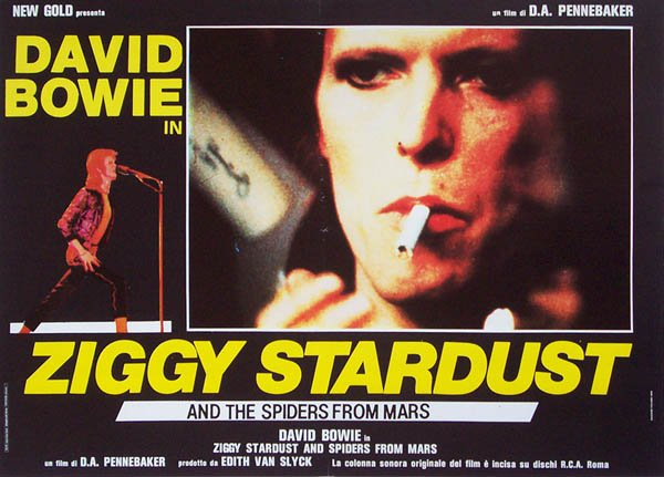 Ziggy Stardust and the Spiders from Mars [David Bowie] (PG) (1973) Movie Poster Google image from http://www.rock-explosion.com/images/Ziggyphb.jpg
