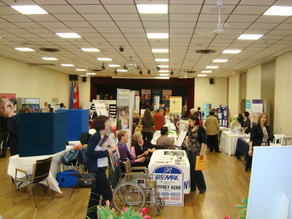 Exhibitors at Seniors Information and Active Living Fair