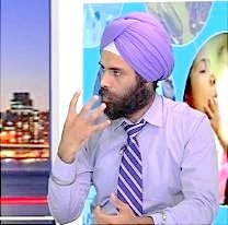 Dr. Ampreet Singh, OD, Mississauga ON 10 July 2016, image from YouTube video,  In focus # 164 | Dr. Ampreet Singh, Optometrist