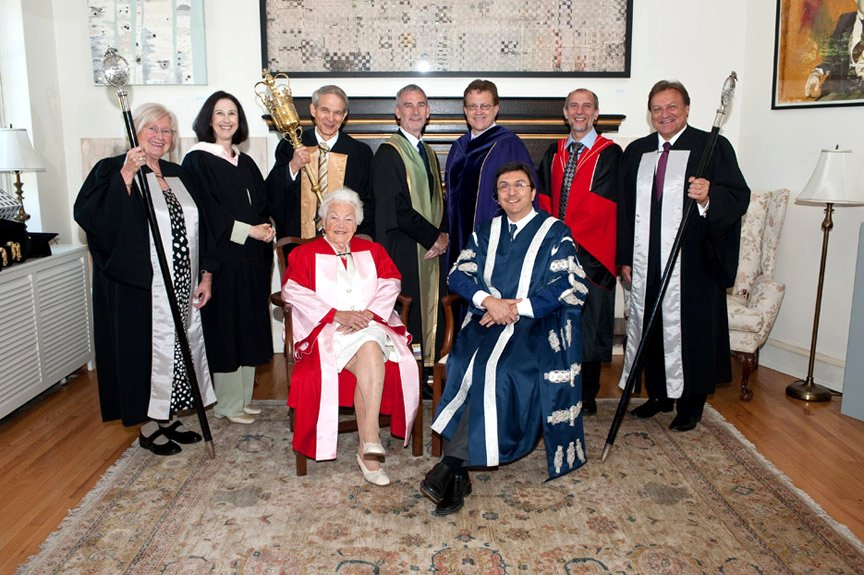 Dr. Hazel McCallion, Honorary Doctor of Law degree (LL.D.) from University of Toronto, June 7, 2010 Google image from http://www.president.utoronto.ca/secure-content/uploads/2012/01/DSC6042.jpg