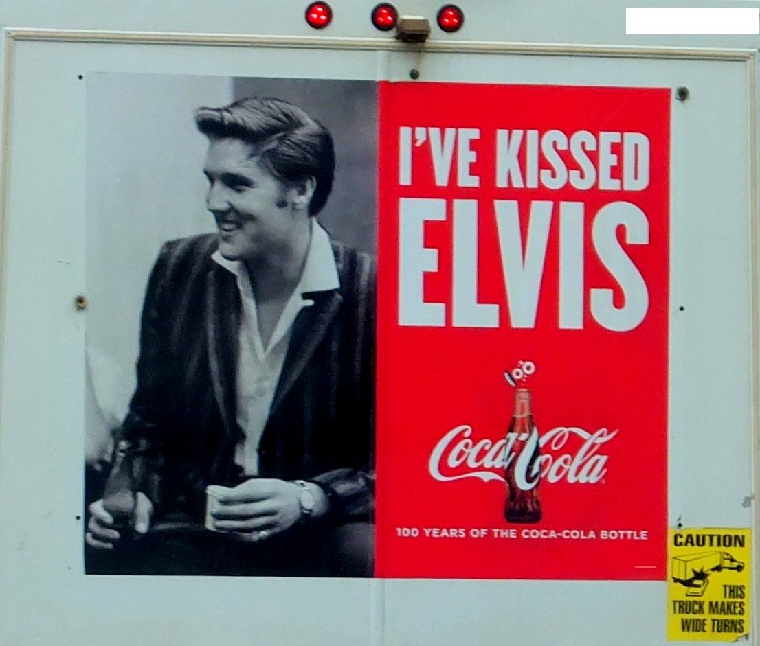 Elvis Presley Coca-Cola Ad on Truck, photo by I Lee, 15 May 2015.