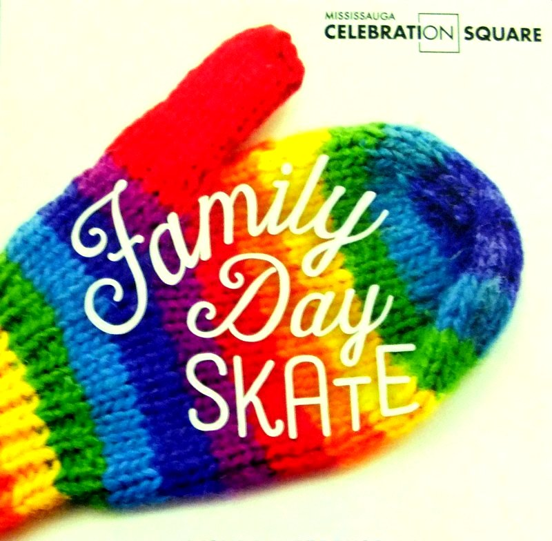 Family Day Skate at Mississauga Celebration Square image from http://www.mississaugacelebrationsquare.ca