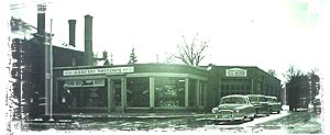 Gascho Auto in Kitchner 1953 Google image from http://www.gaschoauto.com/ourhistory/18.jpg