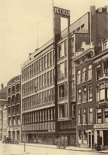 Amsterdam in the 1930s Google image from http://upload.wikimedia.org/wikipedia/commons/f/fa/Gebouw_Arbeiderspers_Amsterdam.jpeg
