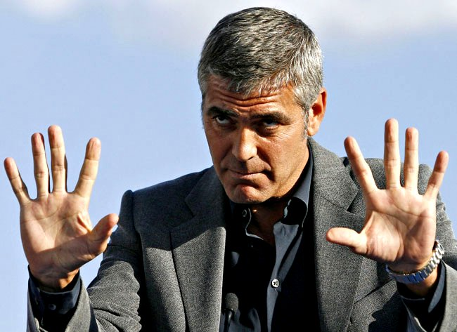 George Clooney Both Hands Google image from http://2.bp.blogspot.com/-od2LkxLnI28/Tf_f-4AzptI/AAAAAAAAAHM/DwqxEyMYf9s/s1600/george%2Bclooney.jpg
