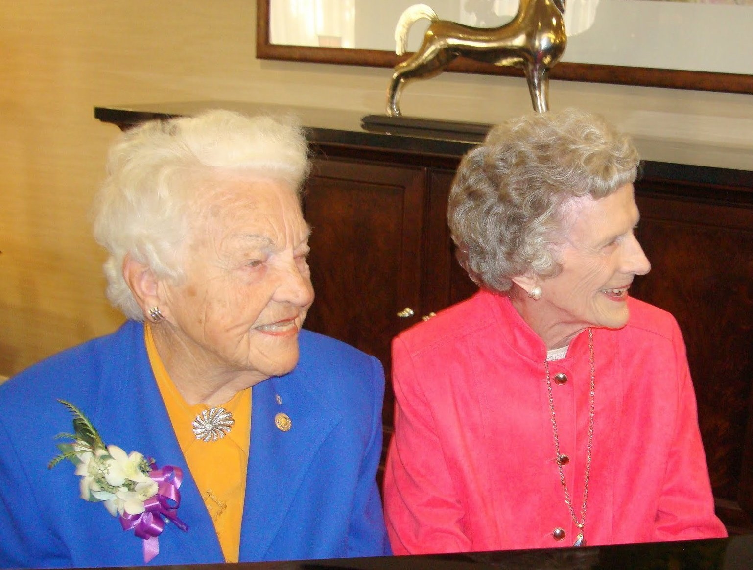 Mayor Hazel McCallion and Gwynn Matthews at the Grand Opening of The Beechwood, Retirement Living by revera. Photo by I Lee, 19 Oct 2010