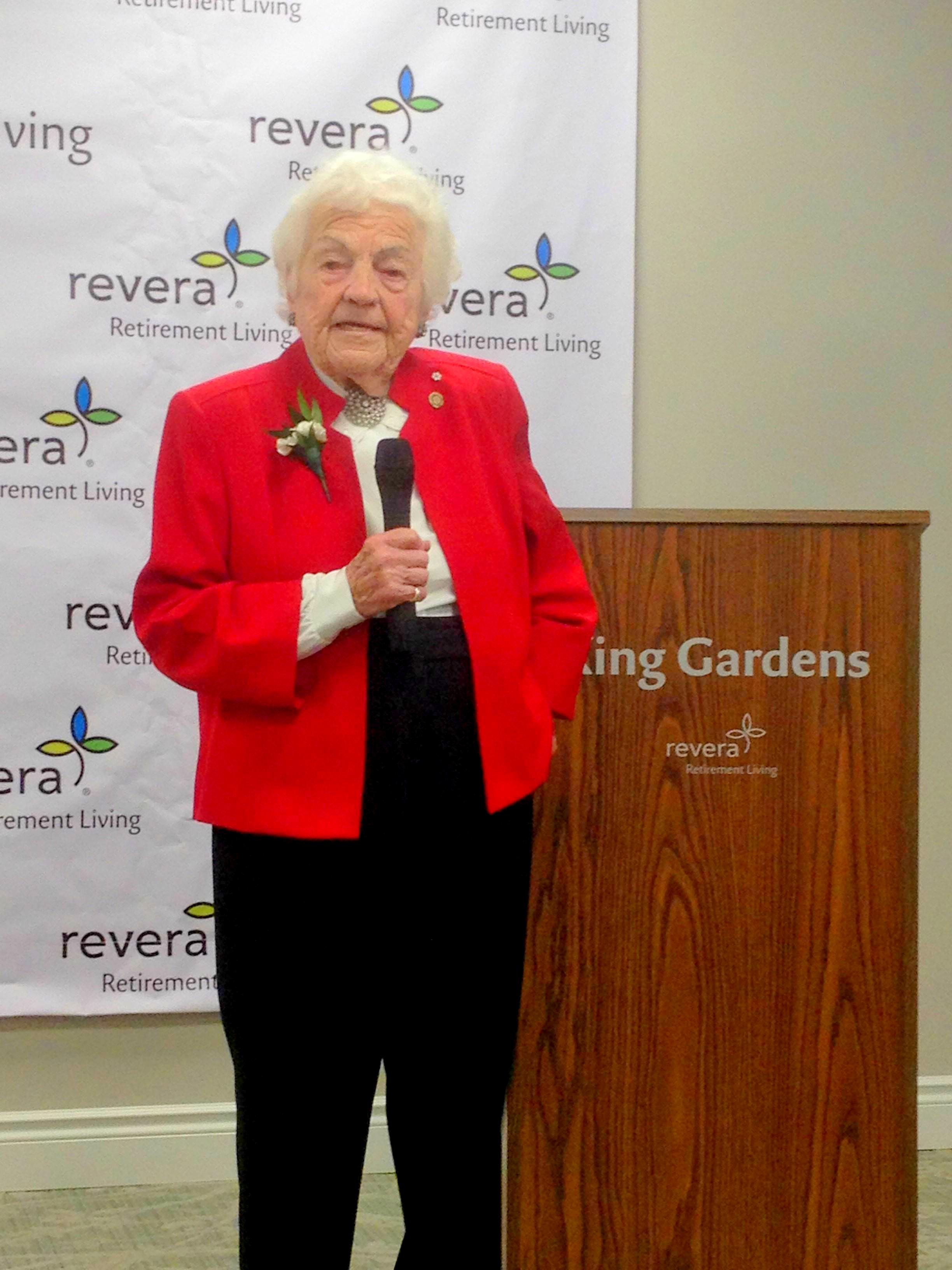 Hazel McCallion at Grand Reopening of Revera King Gardens, 5 April 2018. Photo credits: Alex Gregory, Peel Daily News