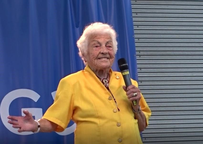 Hazel McCallion Speaks at Opening of 2018 Ontario 55+ Summer Games, Celebration Square