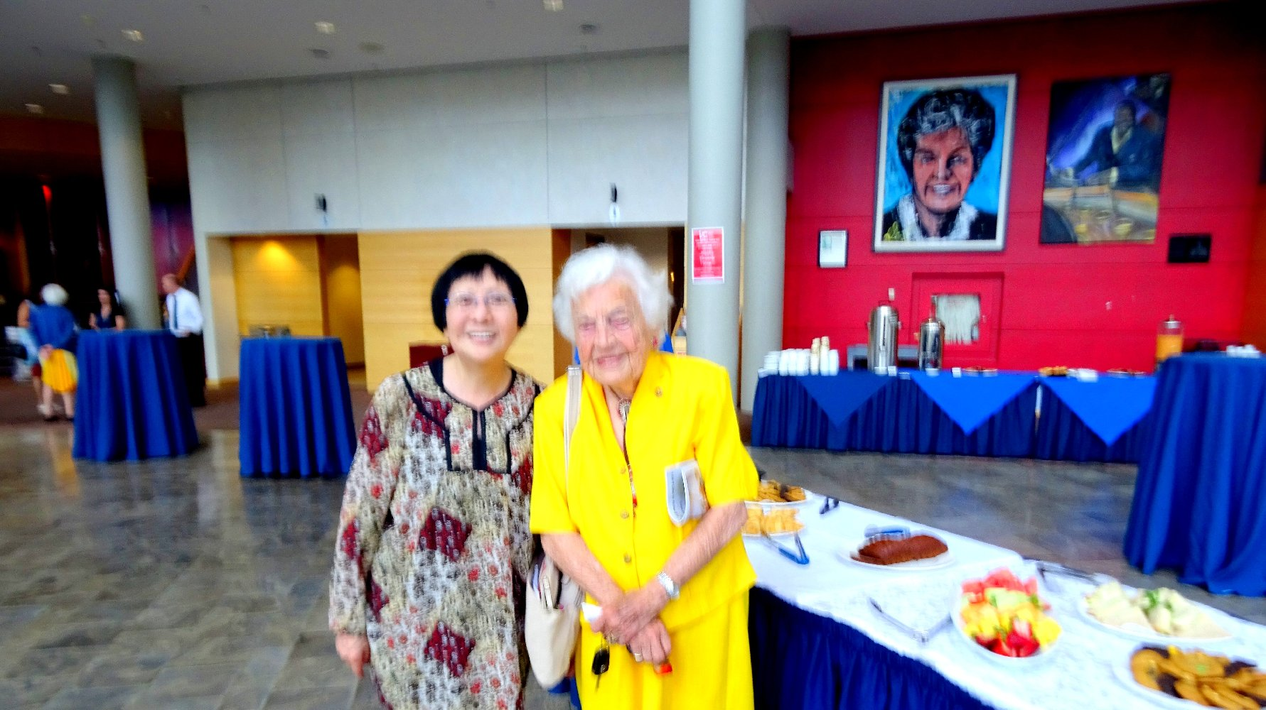 Hazel McCallion and Friend, Living Arts Centre, Photo by LAC Volunteer, June 18, 2018
