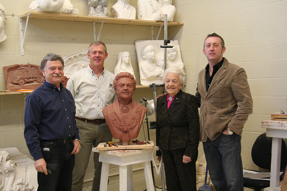 Traditional Cut Stone Lawrence Voaides, David Tyrrell, Richard Carbino with Mayor Hazel McCallion image from http://www.traditionalcutstone.com/wp/wp-content/uploads/mayor_hazel_2.jpg