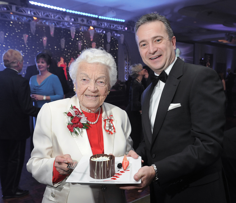 Mayor Hazel McCallion with Dr. Jeff Zabudsky of Sheridan College, 90th birthday celebration Google image from https://www.sheridancollege.ca/news-and-events/news/sheridan-names-new-campus-in-honour-of-mayor-mccallion.aspx
