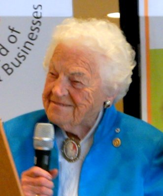Hazel McCallion speaks at Mississauga Healthy Living Expo 13 June 2015. Photo by I Lee