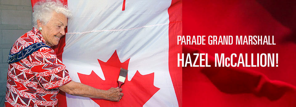Hazel McCallion Parade Grand Marshall 2017 Google image from http://paintthetownred.ca/