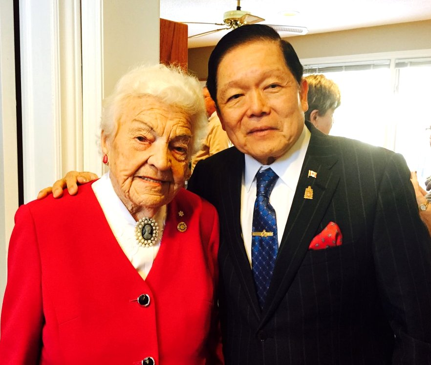 Mayor Hazel McCallion and Senator Victor Oh at Google image from https://sencaplus.ca/en/people/meet-senator-victor-oh Circa 2013