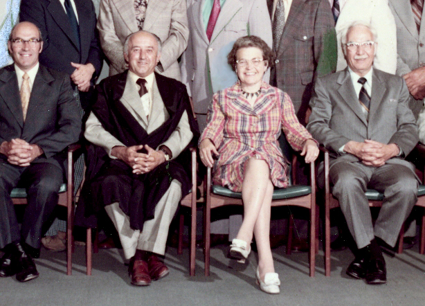 A section of the final County of Peel Council, in 1973. Included are J. E. Archdekin, the Mayor of Brampton, J. I. Mullin, the Reeve of Albion, Hazel McCallion, Streetsville Mayor, and J. C. Saddington, Port Credit Mayor Google image from https://www.insauga.com/hazel-mccallions-photos-through-the-years