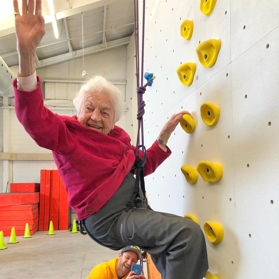 Hazel McCallion Rock Climbing at Hub Climbing