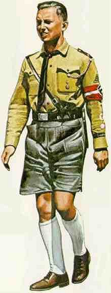 Hitler Youth Uniform image from http://histclo.com/youth/youth/org/nat/hitler/hitleru.htm