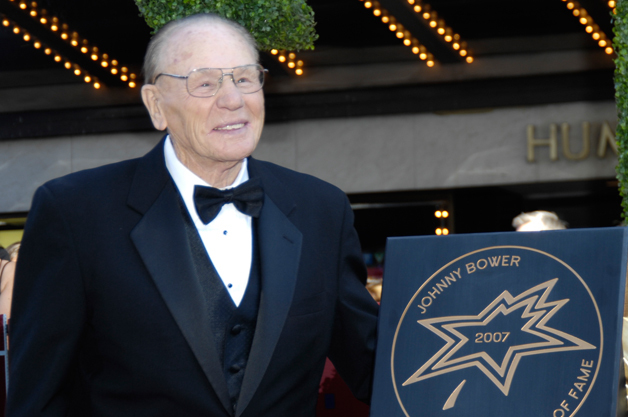 Johnny Bower 2007 Award Google image from http://www.canadaswalkoffame.com/designedit/cache/inductees/619/main_JohnnyBower-withaward.jpg