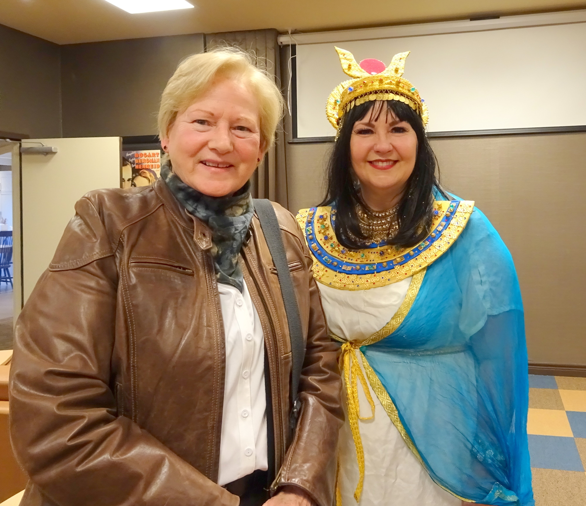 Attendee Judy with Lianne Harris, Ancient Egypt Presentation at VIVA 24 Feb 2020