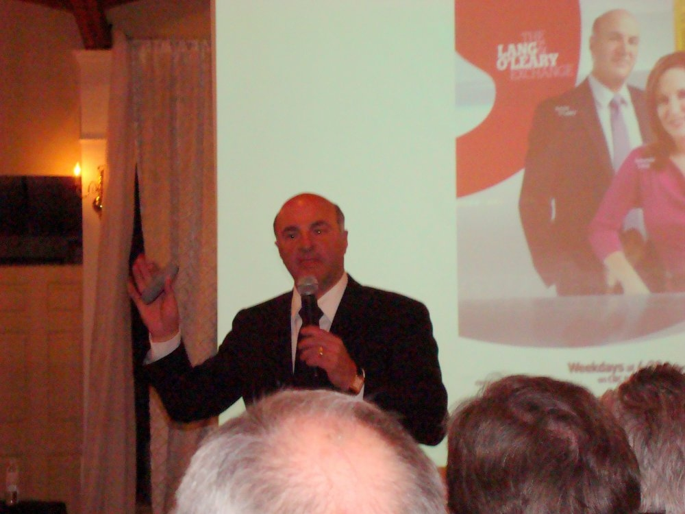 Kevin O'Leary presenter at Le Dome Banquet Hall photo by I Lee