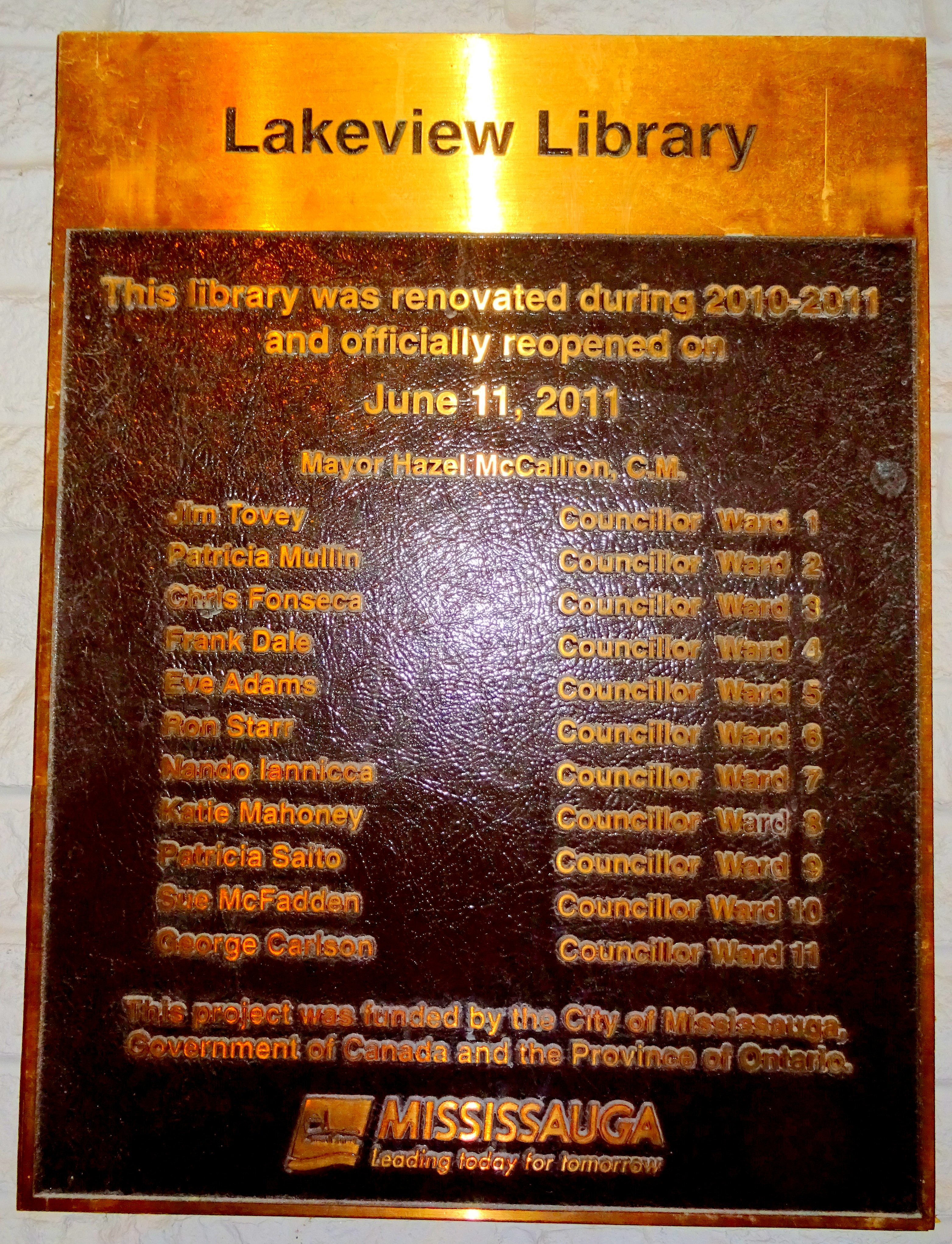 Lakeview Library plaque 11Jun2011, photo by I Lee 16Nov2016 It's 11pm. Do You Know Where Your Website Is? Bloomtools.