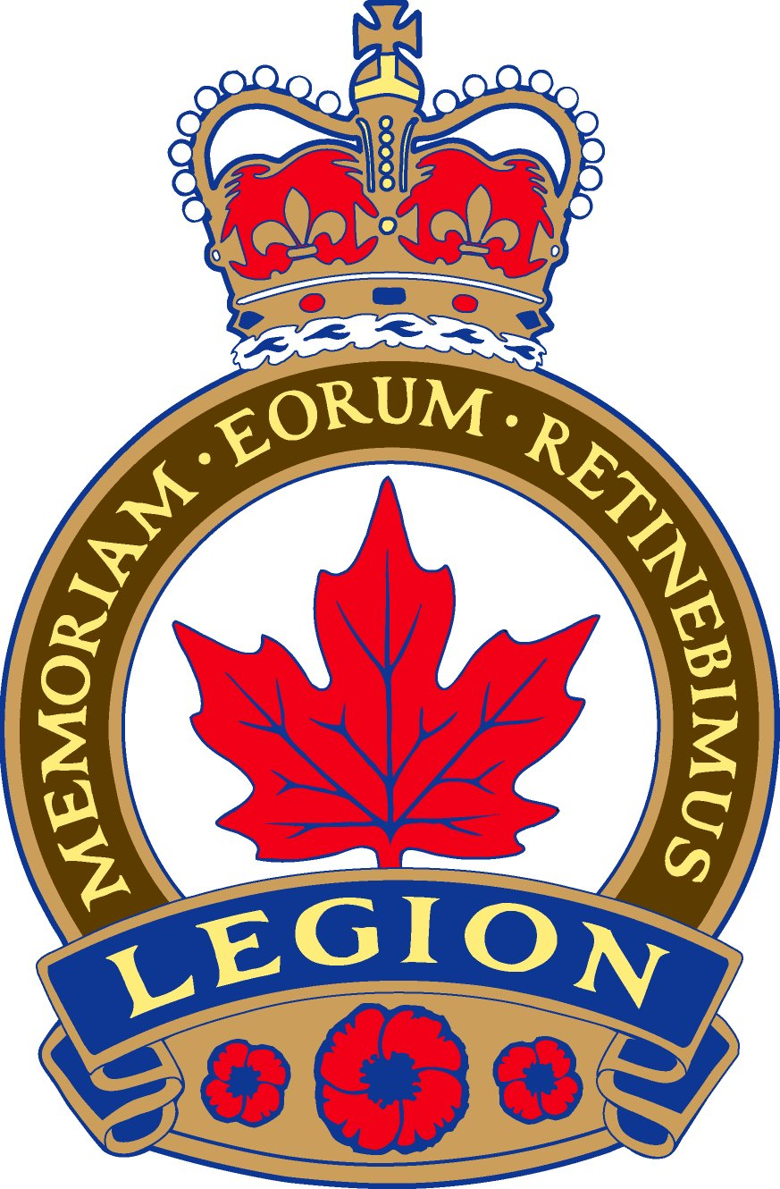 Royal Canadian Legion Crest Google image from http://www.lacseulfloatinglodges.com/Legion%20Crest.jpg