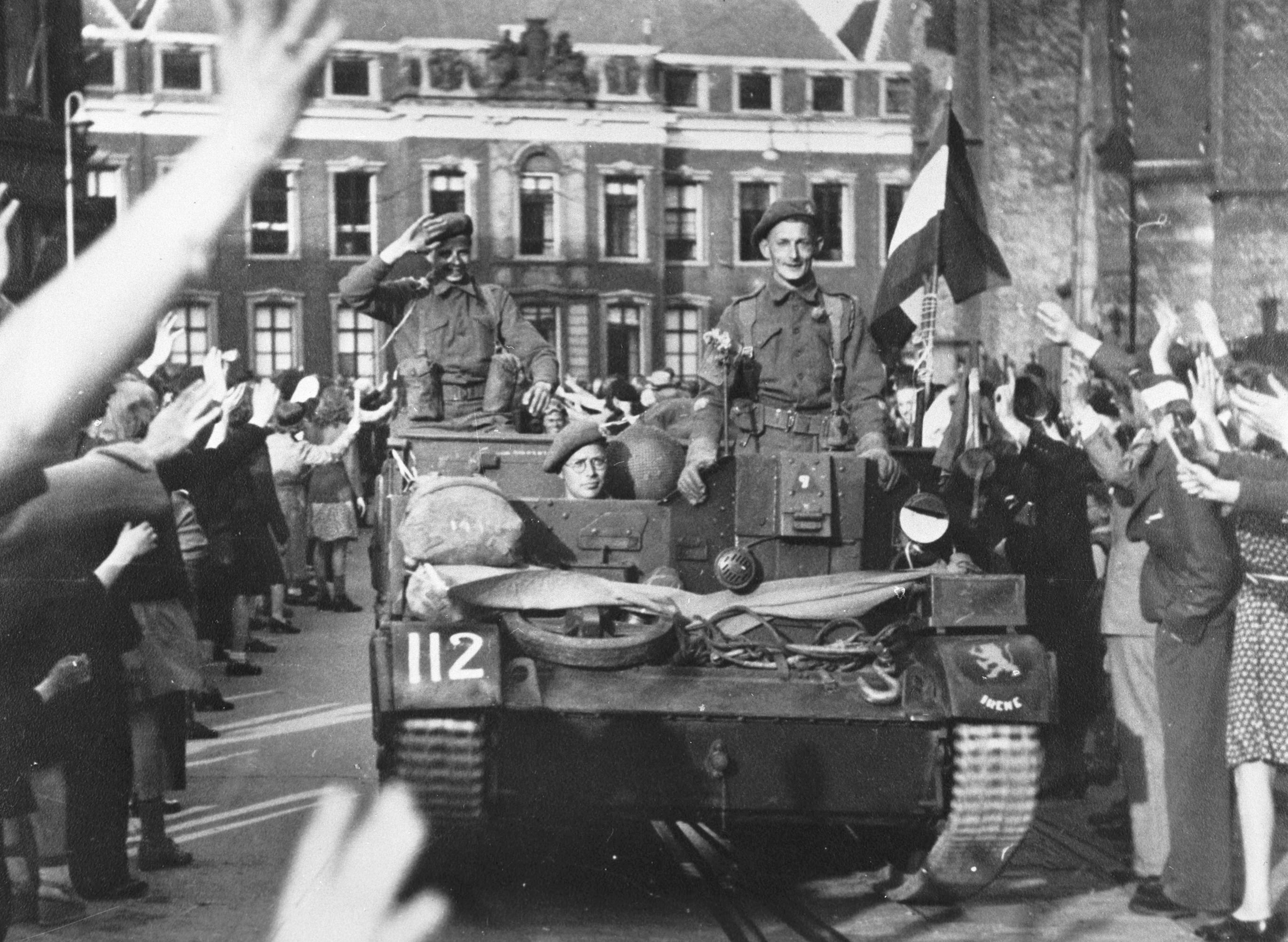 Liberation of Maastricht, Netherlands Google image from http://www.thecanadianencyclopedia.com/media/celebration-netherlands-1945-6072.jpg