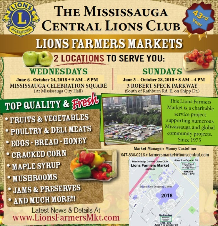 Mississauga Central Lions Club (MCLC) Farmers Markets image from http://www.lionsfarmersmkt.com/Mississauga Central Lions Club