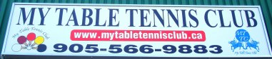 My Table Tennis Club Mississauga Sign at Haines Road, Mississauga, ON