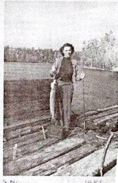 Margaret Caught Fish Sioux Narrows 1951