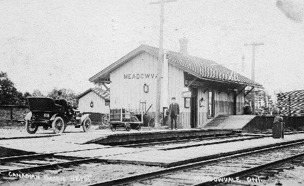 Railways and Railway Stations Google image from http://heritagemississauga.com/assets/Meadowvale%20Train%20Station,%20CVR,%20c1920.jpg - Correction 31May11: Photo credits to Elgin County Railway Museum at http://www.ecrm5700.org/