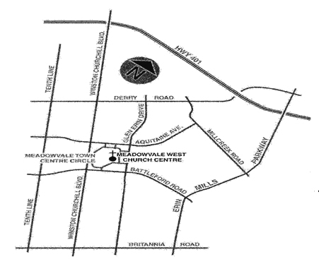 Mississauga West Map 6945 Meadowvale Town Centre Circle, Mississauga ON